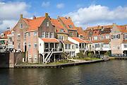 Attractive historic waterside building, Enkhuizen, Netherlands