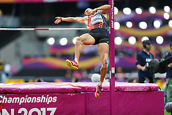 London, August 11 2017 . Keisuke Ushiro, Japan, in the men's decathlon high jump on day eight of the IAAF London 2017 world Championships at the London Stadium. © Paul Davey.
