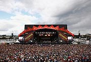 A general view of the main stage as Madness perform live on the Main Stage during day two of Reading Festival 2011 on August 27, 2011 in Reading, England.  (Photo by Simone Joyner)