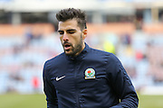 Blackburn Rovers midfielder on loan from Sunderland, Jordi Gomez (14)  during the Sky Bet Championship match between Burnley and Blackburn Rovers at Turf Moor, Burnley, England on 5 March 2016. Photo by Simon Davies.