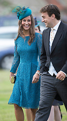 Pippa Middleton attends the wedding of James Meade and Lady Marsham the daughter of Earl of Romney in Gayton, Norfolk, United Kingdom. Saturday, 14th September 2013. Picture by i-Images