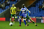 Reading Forward, Sone Aluko (14) holds up the ball during the EFL Sky Bet Championship match between Reading and Norwich City at the Madejski Stadium, Reading, England on 19 September 2018.
