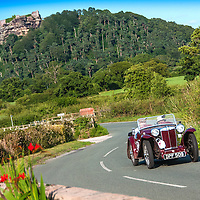 Steve Robertson and Julia Robertson in their MG PB 4 seat Tourer   on the Royal Automobile Club 1000 Mile Trial 2015