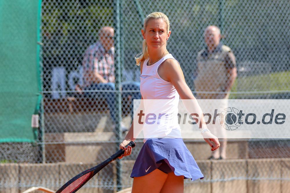 Heide Maaß (TC 1899 Blau-Weiss Berlin) - Siegerin Damen 40, Känguruhs-Open 2018, Finaltag, Berlin, 22.04.2018, Foto: Claudio Gärtner