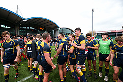 Wasps U18 celebrate after winning the match - Rogan Thomson/JMP - 16/02/2017 - RUGBY UNION - Sixways Stadium - Worcester, England - Worcester Warriors U18 v Saracens U18 - Premiership Rugby Under 18 Academy Finals Day 5th Place Play-Off.
