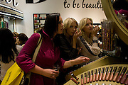 LISA POOLE; AMANDA MARCHANT; SAM MARCHANT, B Never Too Busy To Be Beautiful - Oxford St. Store opening. 8 October 2008 *** Local Caption *** -DO NOT ARCHIVE-© Copyright Photograph by Dafydd Jones. 248 Clapham Rd. London SW9 0PZ. Tel 0207 820 0771. www.dafjones.com.