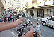 a street in the northern Israeli city of Safed after being hit by a Katyusha rocket fired by hizbollah in southern Lebanon on Thursday July 13 2006