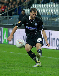 20.10.2011, UPC Arena, Graz, AUT, UEFA Europa League, Sturm Graz (AUT) vs RSC Anderlecht (BEL), im Bild Juergen Saeumel (SK Sturm Graz, #28, Midfield) // during UEFA Europa League football game between Sturm Graz (AUT) and RSC Anderlecht (BEL) at UPC Arena in Graz, Austria on 20/10/2011. EXPA Pictures © 2011, PhotoCredit: EXPA/ E. Scheriau