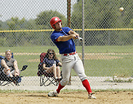 Samantha Blue, from Urbana (left) and Alyssa McFann, from Urbana watch as Clint Wolf, from Xenia, connects for a home run during a game between the Springfield Indians and the Dayton Rangers of the Miami Valley Adult Baseball League, at Rotary Park in Beavercreek, Sunday, July 15, 2007.  The Rangers won the game 11 - 3.