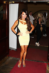 © Licensed to London News Pictures. 13/08/2013. LONDON. Lizzie Cundy, WAG! The Musical - ViP Night, Charing Cross Theatre, London UK, 13 August 2013,Photo credit : Brett D. Cove/Piqtured/LNP