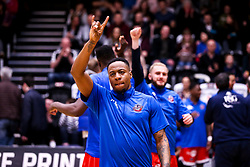 Panos Mayindombe of Bristol Flyers - Photo mandatory by-line: Robbie Stephenson/JMP - 01/03/2019 - BASKETBALL - Eagles Community Arena - Newcastle upon Tyne, England - Newcastle Eagles v Bristol Flyers - British Basketball League Championship