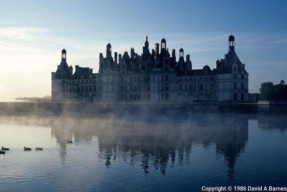 Chateau Chambord at dawn, Loir-et-Cher, Loire Valley, France