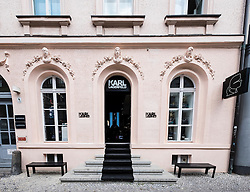 Karl Lagerfeld boutique on Neue Schonhauser street in trendy fashionable district of Mitte in Berlin Germany