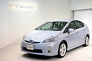 Toyota Motor Corp.'s third generation Prius hybrid car is pictured during an unveiling of the vehicle at the automaker's showroom  was in Tokyo, Japan on 18 May 2009.