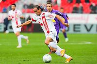 Bruno GROUGI  - 20.12.2014 - Brest / Ajaccio - 18eme journee de Ligue 2 -<br /> Photo : Vincent Michel / Icon Sport