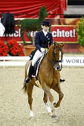 Galiza Mendes Mafalda (POR) - D'Artagnan<br /> FEI World Cup Dressage Final for Young Riders<br /> Frankfurt 2009<br /> Photo© Hippo Foto - Leanjo de Koster