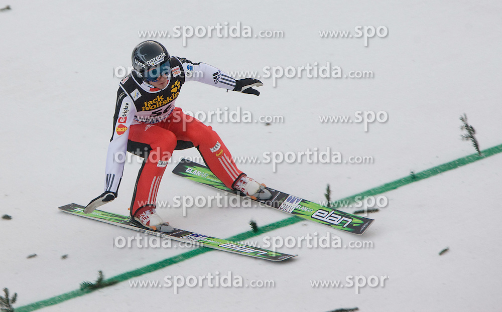 Robert Kranjec of Slovenia competes during Final round of the FIS Ski Jumping World Cup event of the 58th Four Hills ski jumping tournament, on January 3, 2010 in Bergisel, Innsbruck, Austria.(Photo by Vid Ponikvar / Sportida)