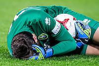 ROTTERDAM - Feyenoord - ADO Den Haag , Voetbal , KNVB Beker , Seizoen 2016/2017 , De Kuip , 14-12-2016 , ADO Den Haag speler Robert Zwinkels op de grond