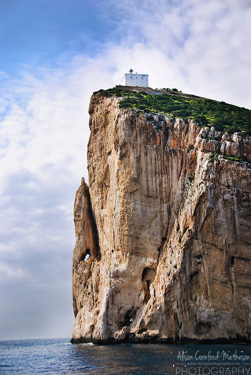 Capo Caccia lighthouse on the 110m cliff.