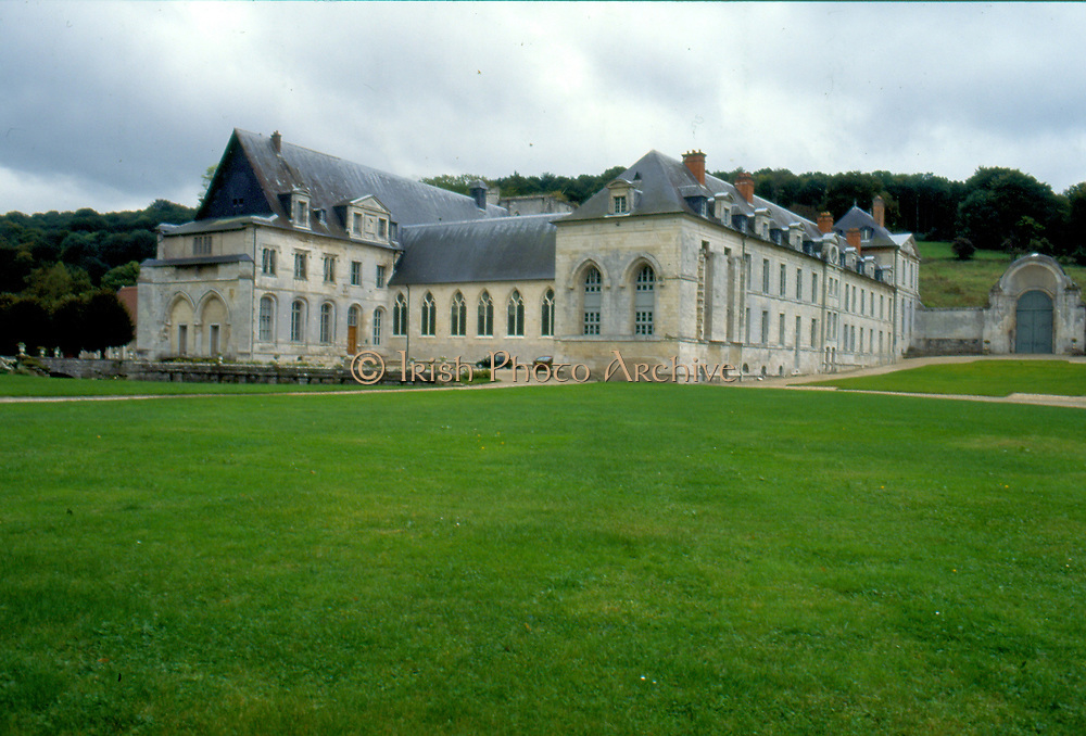 France, Normandy.  St. Wandrille Abbey.