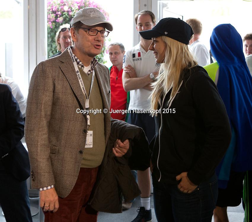 BMW Open 2015, Sabine Lisicki  und Guido Westerwelle<br /> Tennis - ATP -  Muenchen  - Germany  -