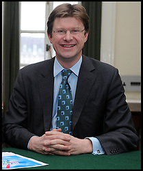 Leader of the Conservative Party David Cameron with Greg Clark, Member of Parliament for Tunbridge Wells in his office in Norman Shaw South, January 7, 2010. Photo By Andrew Parsons / i-Images.