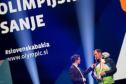 Sasa Jerkovic and Tomaz Razingar during the outfitting of the Slovenian Olympic Team for PyeongChang 2018, on January 29, 2018 in GH Union, Ljubljana, Slovenia. Photo by Urban Urbanc / Sportida