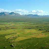 Jórvík og Jórvíkurhjáleiga séð til suðurs,  Fljótsdalshérað áður Hjaltastaðahreppur / Jorvik and Jorvikurhjaleiga viewing south, Fljotsdalsherad former Hjaltastadahreppur.