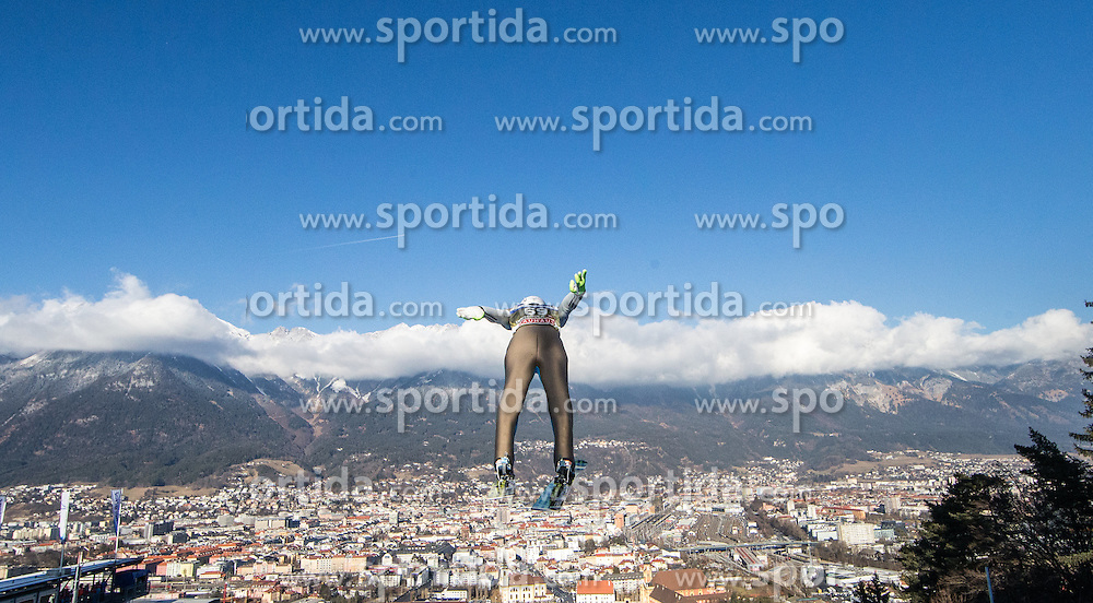 03.01.2017, Bergiselschanze, Innsbruck, AUT, FIS Weltcup Ski Sprung, Vierschanzentournee, Innsbruck, Training, im Bild Daniel Andre Tande (NOR) // Daniel Andre Tande of Norway during his Practice Jump for the Four Hills Tournament of FIS Ski Jumping World Cup at the Bergiselschanze in Innsbruck, Austria on 2017/01/03. EXPA Pictures © 2017, PhotoCredit: EXPA/ Jakob Gruber