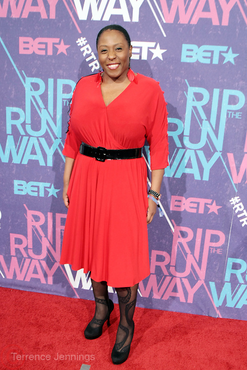 New York, NY- FEBRUARY 29:  Fashion Designer Qristyl Frazier at the BET Rip The Run Way held at the Hammerstein Ballroom on February 29, 2012 in New York City. Photo Credit: Terrence Jennings