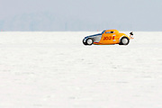 Best cars-people-atmosphere-photos of 2009 Bonneville Speed Week- Driver Rod King makes a run in a 1934 Ford Coupe, owned by Jim Hanson of Turner, Maine, at the Bonneville Speed Way. August 9, 2009.  Photo by Colin E. Braley