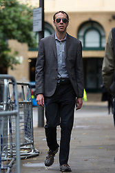 © Licensed to London News Pictures. 01/07/2016. LONDON, UK. Film producer, CHRISTOPHER WALSH ATKINS arrives at Southwark Crown Court in London for sentencing. Christopher Walsh Atkins and Christina Slater were found guilty at a hearing in June, of conspiracy to cheat the public revenue and fraud after taking advantage of the UK Film Tax Relief scheme, set up to support the British film industry. Atkins and Slater inflated invoice costs to get investment for 'Starsuckers', a 2009 documentary in which fake stories about celebrities were sold to tabloid newspapers. As well as 'Starsuckers', which fraudster, Atkins received a BAFTA nomination for as director, Atkins was behind the controversial 'UKIP: The First 100 Days'.  Photo credit: Vickie Flores/LNP