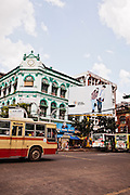 Colonila era building. Yangon, Myanmar.