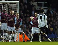Photo: Olly Greenwood.<br />West Ham United v Tottenham Hotspur. The Barclays Premiership. 04/03/2007. Spurs Dimitar Berbatov scores
