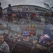 &quot;Clark and Addison.&quot; Chicago Cubs opening day Friday, April 4, 2014 at Wrigley Field. Made with three exposures in-camera. (Brian Cassella/Chicago Tribune) B583641656Z.1 <br /> ....OUTSIDE TRIBUNE CO.- NO MAGS,  NO SALES, NO INTERNET, NO TV, CHICAGO OUT, NO DIGITAL MANIPULATION...