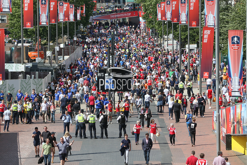 Wembley Way before the Cup Final during the The FA Cup final match between Arsenal and Chelsea at Wembley Stadium, London, England on 27 May 2017. Photo by Shane Healey.