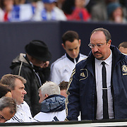 Rafael Benitez, Chelsea, on the sideline during the Manchester City V Chelsea friendly exhibition match at Yankee Stadium, The Bronx, New York. Manchester City won the match 5-3. New York. USA. 25th May 2012. Photo Tim Clayton