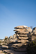"Karstic rock formation from Jurassic era known as El Tornillo; ""The Screw"". Symbol of the Natural Park of El Torcal de Antequera.  Malaga province, Andalucia, Spain."
