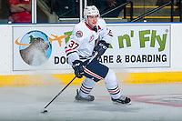 KELOWNA, CANADA - SEPTEMBER 24:  Joe Gatenby #37 of the Kamloops Blazers looks for the pass against the Kelowna Rockets on September 24, 2016 at Prospera Place in Kelowna, British Columbia, Canada.  (Photo by Marissa Baecker/Shoot the Breeze)  *** Local Caption *** Joe Gatenby;