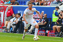 September 30, 2018 - Harrison, NJ, U.S. - HARRISON, NJ - SEPTEMBER 30:   Atlanta United midfielder Chris McCann (16) during the first half of  the Major League Soccer game between the New York Red Bulls and Atlanta United on September 30, 2018 at Red Bull Arena in Harrison, NJ.  (Photo by Rich Graessle/Icon Sportswire)HARRISON, NJ - SEPTEMBER 30:   Atlanta United midfielder Chris McCann (16) during the second  half of  the Major League Soccer game between the New York Red Bulls and Atlanta United on September 30, 2018 at Red Bull Arena in Harrison, NJ.  (Photo by Rich Graessle/Icon Sportswire) (Credit Image: © Rich Graessle/Icon SMI via ZUMA Press)