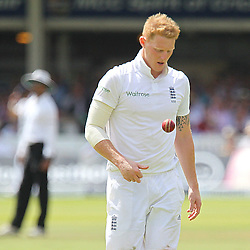 England's Ben Stokes during the first day of the Investec 2nd Test match between England and India at Lords, London, 17th July 2014 © Phil Duncan | SportPix.org.uk