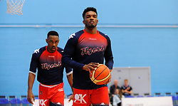Bristol Flyers players warm up- Photo mandatory by-line: Nizaam Jones/JMP - 19/10/2019 - BASKETBALL - SGS Wise Arena - Bristol, England - Bristol Flyers v London Lions - British Basketball League Cup