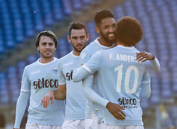 December 23, 2017 - Rome, Italy - Felipe Anderson celebrates after scoring goal 4-0  during the Italian Serie A football match between S.S. Lazio and Crotone at the Olympic Stadium in Rome, on december 23, 2017. (Credit Image: © Silvia Lore/NurPhoto via ZUMA Press)