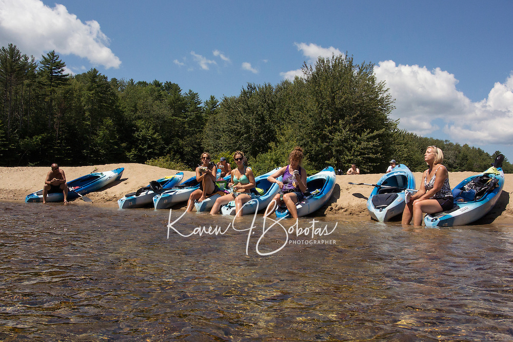 Kayaking down the Saco River, North Conway, NH.  ©2015 Karen Bobotas Photographer