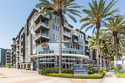 The Catch Restaurant and Avalon Apartments in Downtown Anaheim