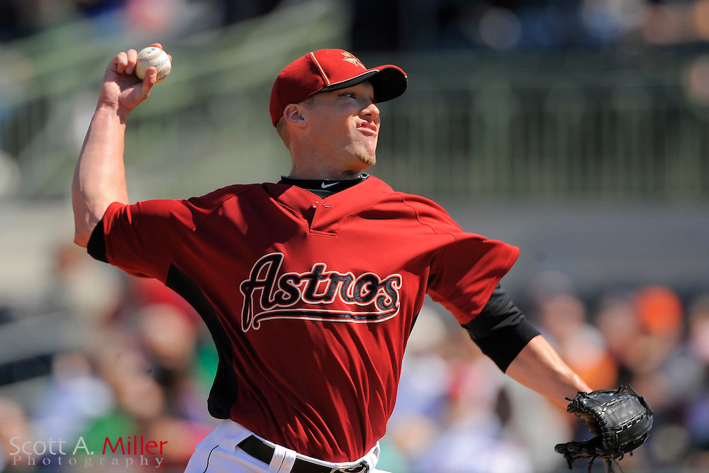 March 13, 2010; Kissimmee, FL, USA; Houston Astros relief pitcher Matt Lindstrom (22) during the Astros game against the Washington Nationals at Osceola County Stadium. ©2010 Scott A. Miller