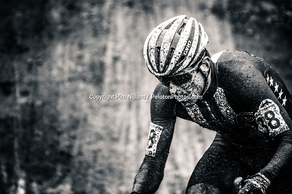 Jeremy DURRIN of USA during the Men Elite race, UCI Cyclo-cross World Championship at Bieles, Luxembourg, 29 January 2017. Photo by Pim Nijland / PelotonPhotos.com | All photos usage must carry mandatory copyright credit (Peloton Photos | Pim Nijland)