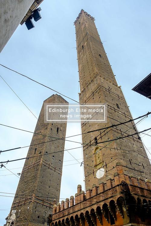 The Two Towers of Bologna (Le Due Torri), Italy - symbols of the city<br /> <br /> (c) Andrew Wilson   Edinburgh Elite media