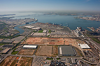 Old General Motors Plant now Duke properties aerial view toward Baltimore and Key Bridge