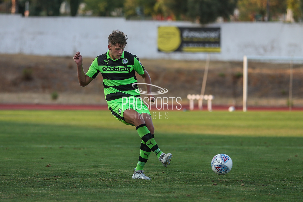 Forest Green Rovers Jack Fitzwater(16) passes the ball during the Pre-Season Friendly match between SC Farense and Forest Green Rovers at Estadio Municipal de Albufeira, Albufeira, Portugal on 25 July 2017. Photo by Shane Healey.